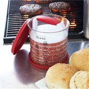 Sur La Table® Hamburger Press and Store- Simple tool that ensures you create patties that are the same size. Plus, it stores the #food and makes it ready to use. #summer #tool #bitsandbobs