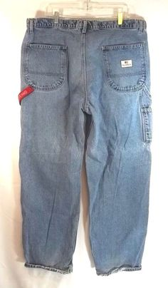 Sunny Men Ralph Lauren Low Straight Double Rl Denim Jeans 38x32 Clothing, Shoes & Accessories