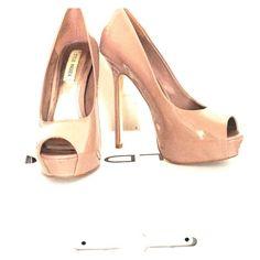 "Sexy Heels Sexy Nude heels. 5"" heel height, 1.5"" platform. Super fun and flirty! Gently used. Steve Madden Shoes Heels"