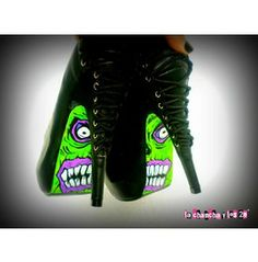 Hand Painted Shoes -feast Brains-