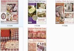 5 французских журналов по вышивке крестом.