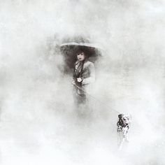 the walker and the fog #dalmatian #dog #art