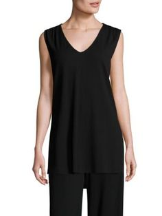 MAX MARA Angora V-Neck Top. #maxmara #cloth #top