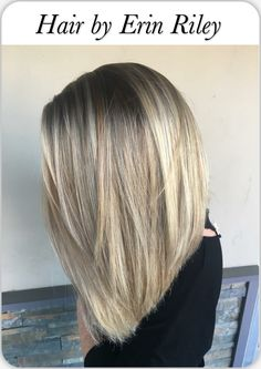 Blonde hair with shadow root