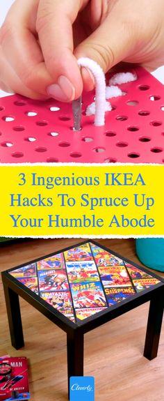 3 Ingenious IKEA Hacks | #cleverly #diy #crafts #ikea #tips #tricks #fyi #dyk #homehacks #diycrafts #lifehacks #diyprojects #pinterestcrafts #diyfurniture #homecrafts #interiordesign #livingroom #ikeahacks Ikea Hacks, Diy Hacks, Home Crafts, Arts And Crafts, Diy Crafts, Pinterest Crafts, Ikea Furniture, Home Hacks, Humble Abode