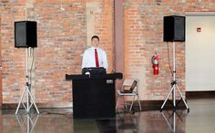 DJ Stand and Speakers at the Grand Hall