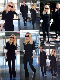 She had enjoyed a glam trip to New York to pick up a top fashion prize. And Jessica Simpson continued to show off her chic sense of style when she jetted out of the Big Apple on Wednesday. After a whirlwind two day visit, Jessica and her husband Eric Johnson headed back home to their children in Los Angeles, with the blonde beauty looking gorgeous in head to toe monochrome for her cross-country flight.