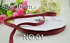 100yards Grosgrain Ribbon 3/8'' 10mm hairbows gift packing wedding decoration diy ribbons No: 01 >>> Visit the image link more details.