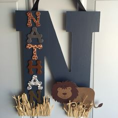 A personal favorite from my Etsy shop https://www.etsy.com/listing/247747831/safari-initial-safari-wooden-initial