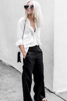 Relaxed shirt & wide pants
