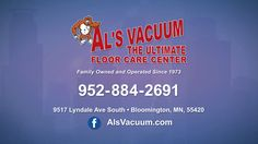"""Next family owned and operated since 1973 and conveniently located in Bloomington off of Lyndale Avenue is the Ultimate Floor Care Center Al's Vacuum! As featured on """"Around Town"""" TV. www.Around-Town.TV"""