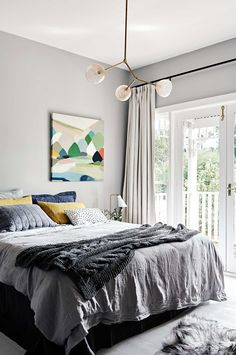 Bedroom inspiration: 15 shades of grey. Styling by Jacqui Moore. Photography by Eve WIlson.