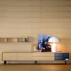 www.muebleslluesma.com  mueble tv de treku realizado en chapa natural y que puedes combinar con aparadores, mesas y sillas modernas.