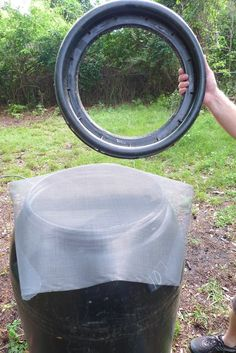 DIY Rain Barrel System - Screen the top of the barrel