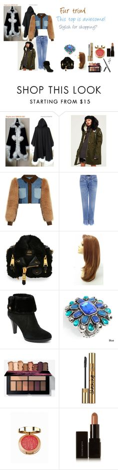 """""""For Scarlett (friend) - Scarlett's ideal wardrobe by me: #378: Fur trim!"""" by sarah-m-smith ❤ liked on Polyvore featuring Missguided, Sonia Rykiel, 3x1, Moschino, Anne Klein, Alexa Starr, Yves Saint Laurent, Milani and Illamasqua"""
