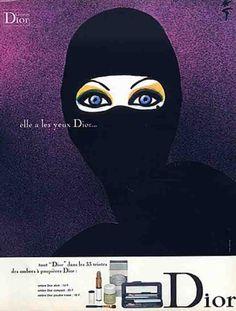 Dior cosmetics, 1971 Illustration by René Gruau