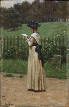 The Love Letter-Edmund Blair Leighton (British, 1853-1922)