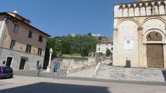 the #Roccadipietrasanta and  #SantAogstinochurch of #Pietrasanta