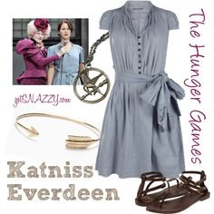 """""""Katniss - Reaping Dress - The Hunger Games"""" by getsnazzy on Polyvore"""