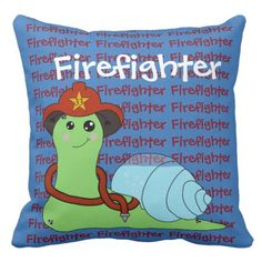 Sullivan the Snail are a Firefighter! Throw Pillow