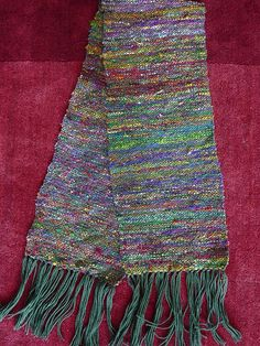 Woven Recycled Silk Sari Scarf