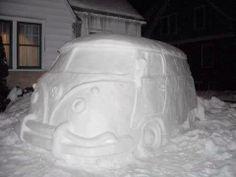 SNOW VW BUS