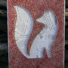 Fox silhouette string art