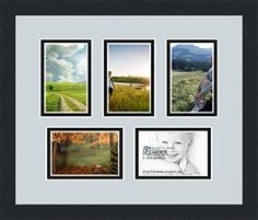 Art to Frames DoubleMultimat70686089FRBW26079 Collage Photo Frame Double Mat with 5  4x6 Openings and Satin Black Frame -- For more information, visit image link.