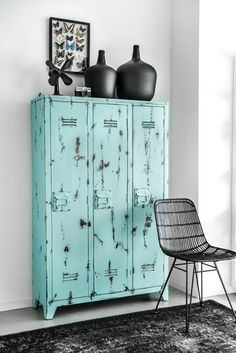 Cool colour industrial lockers