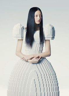 Lego Wedding Dress Created by Rie Hosokai.