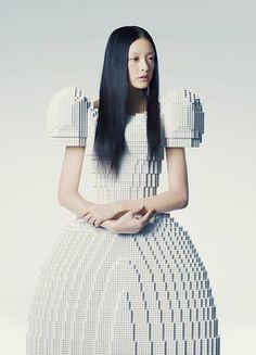 Lego Wedding Dress by Rie Hosokai.