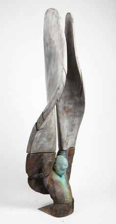 Available for sale from ATR Gallery, Jesús Curiá, Helicoide II Bonze and wood, 44 × 138 × 30 cm Sculpture Metal, Pottery Sculpture, Abstract Sculpture, Concrete Sculpture, Arte Fashion, Contemporary Sculpture, Vanitas, Art Abstrait, Figurative Art
