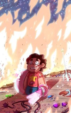 Umm it looks like Steven just went to hell with everyone he knew and everyone died except for him. And now he's just asking for mercy from Satan, like, wtf.