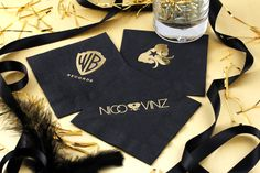 Created these awesome cocktail napkins for Nico  Vinz! Click here to start designing your own custom cocktail napkins http://www.foryourparty.com/products/napkins-matches-and-barware/napkins/cocktail-napkins/