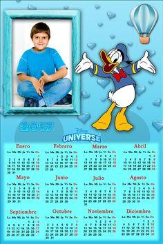 Calendarios para Photoshop: Calendario del 2017 de Donald para Photoshop (Psd ...