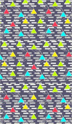 triangulos 2d by jimena palacios, via Behance