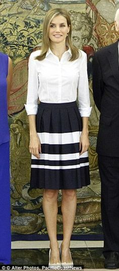 Queen Letizia pictured in the outfit in September 2014
