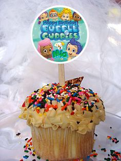World of Pinatas - Bubble Guppies Personalized Cupcake Toppers Set of 6, $5.99 (http://www.worldofpinatas.com/bubble-guppies-personalized-cupcake-toppers-set-of-6/)