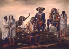 aboriginal black natives of america 1400's | Deputation of Aboriginal Nations from the Mississippi, 1814