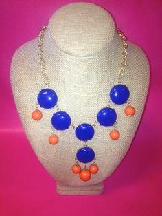 Orange and Blue Bubble Necklace