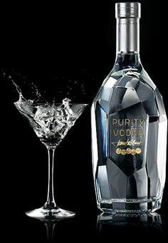 Purity Vodka… always makes a splash. A vodka you can drink neat… or mix with… Purity Vodka… always makes a splash. A vodka you can drink neat… or mix with pleasure. Alcohol Bottles, Liquor Bottles, Vodka Bottle, Expensive Vodka, Glass Packaging, Design Packaging, Liqueur, In Vino Veritas, Cocktail