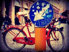 bici e cartello