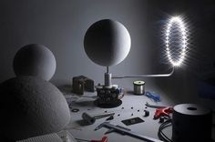 "French designer Oscar Lhermitte worked in collaboration with London-based design studio Kudu to create a topographically accurate lunar globe that displays the current lunar phases at any given time. ""MOON is the most accurate lunar globe, using NASA's Lunar Reconnaissance Orbiter topographic data combined with electronic and mechanical engineering alongside careful craftsmanship in mold making.  Design meets technology meets science meets art."" ""مون هي الكرة الأرضية القمرية الأكثر دقة، وذلك…"
