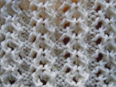 knitting pattern open chain ribbing