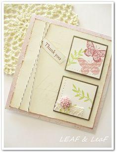 スタンプで作る春の手作りカード  http://ameblo.jp/leafleaf-cards/entry-11478771953.html
