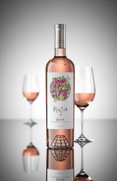 Rozet By Buzet on Packaging of the World. Wine Label Design, Bottle Design, Wine Bottle Labels, Liquor Bottles, Mouton Rothschild, Wine Photography, Wine Packaging, Fine Wine, Wine Recipes