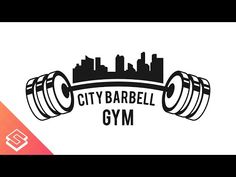 Inkscape Tutorial: Barbell/Skyline Logo - YouTube