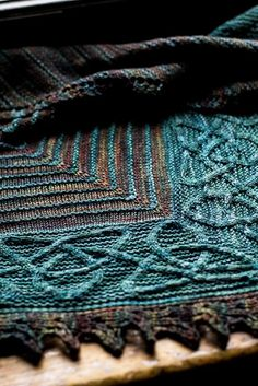 Ishneich Shawl knitting pattern by Lucy Hague in Malabrigo Sock - LoveKnitting