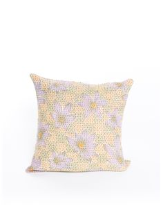 beautiful floral throw pillow from The Little Market