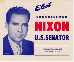 (1950) Richard Nixon elected to senate